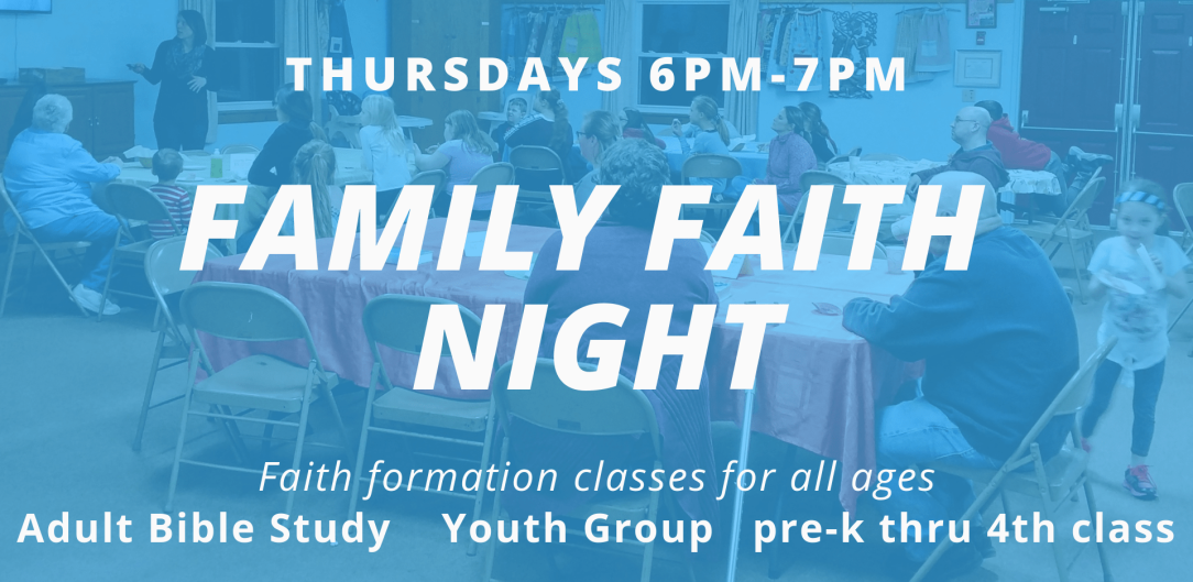 Family Faith Night update