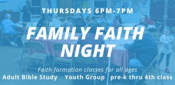 Family Faith Night update