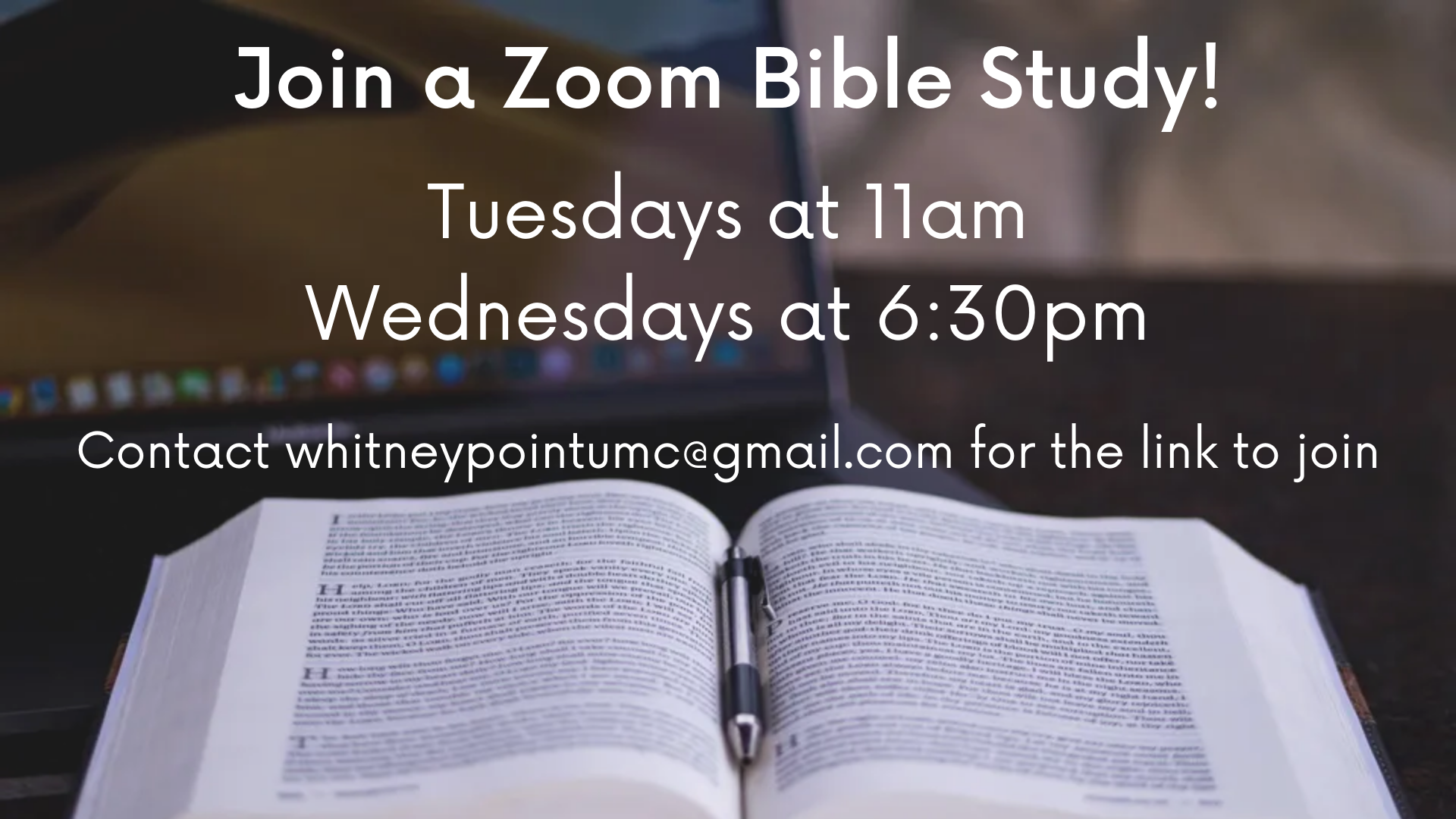 Join a Zoom Bible Study